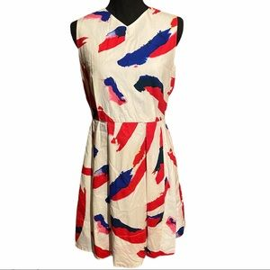 GAP Fit n' Flare Red White Blue Cotton Dress 6
